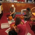 Vorbereitungen für Halloween