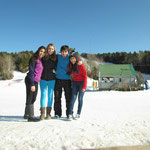 Thamara, me, Arda and Pan at Ski Martock