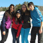 Thamara, Pan, me and Arda at Ski Martock