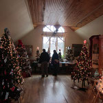 With a $1 donation, View over 20 decorated Christmas trees and gingerbread houses and vote on your favorite one.