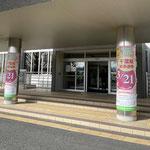 千葉県知事選挙 柱巻きサイン
