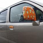 「かまたん」ドアミラーカーラッピングデザイン・制作