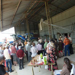Départ de la visite sur la ferme des volailles de chair