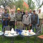 Die Rüstigen Rentner restaurieren den Spieker und freuen sich über die Pausen