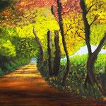 Waldweg, Acryl auf Keilrahmen 70 x 50 cm