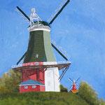 Zwillingsmühlen Greetsiel, Acryl 30 x 40 cm