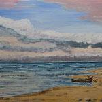 Ostsee-Strand  Acryl Boesner-Malkarton 30 x 40 cm