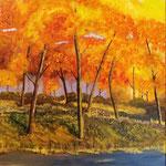 Herbstwald,Acryl auf Keilrahmen 70 x 50 cm