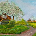 Ahrenshoop, Acryl 60 x 30 cm