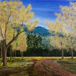herbstlicher Waldweg  Acryl  30 x 40 cm