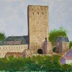 Burg Blankenstein Aquarell