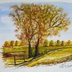 Herbst , Aquarell