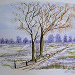 Winter , Aquarell