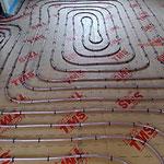Réseau plancher chauffant sur plaque TMS 4