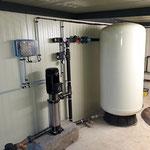 Installation de traitement des eaux au chlore cuve