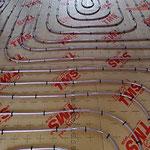 Réseau plancher chauffant sur plaque TMS 3