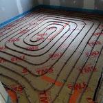 Réseau plancher chauffant sur plaque TMS 1