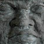 Olmekenkopf 4/6 - 2000 - Steinguss - 52x50x50 cm - Ansicht 2