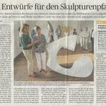 Drei Entwürfe für den Skulpturenpfad - Neuss Grevenbroicher Zeitung - 2018