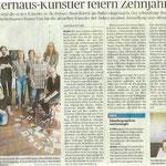 Atelierhaus-Künstler feiern Zehnjähriges- Neuss Grevenbroicher Zeitung - 2017