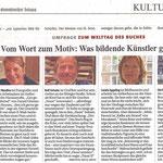 Vom Wort zum Motiv: Was bildende Künstler gerne lesen - Neuss Grevenbroicher Zeitung - 23.04.2011