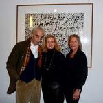 "Studio Bronx - ""Eggeling trifft Katz"" - Die Künstler Benjamin Katz (li.) Carola Eggeling (rechts)mit Frau Prof. Dr. Irene Daum (Mitte) - 2017"