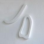 Wandobjekt Jo 2 - 2009 - Holz/Gips - 90x60x6 cm