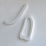 Wandobjekt Jo 2 - 2009 - Holz/Gips - 90 (h) x 60 (b) x 6 (t) cm