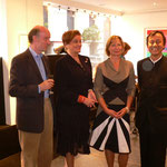H.Art Gallery - Andverpen -Jaap Bremer (li.) Catherine Alting Carola Eggeling Fujio Akai (re.) -2005
