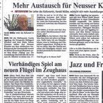 Mehr Austausch für Neusser Künstler - Neuss Grevenbroicher Zeitung -19.10.2011