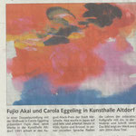Fujio Akai und Carola Eggeling in Kunsthalle Altdorf- Badische Zeitung - 15.02.2007