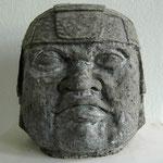 Olmekenkopf 4/6 - 2000 - Steinguss - 52x50x50 cm - Ansicht 1