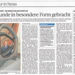 Das Runde in besondere Form gebracht - Neuss Grevenbroicher Zeitung - 3.1.2014