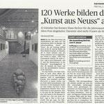 """120 Werke bilden die """"Kunst aus Neuss"""" ab - Neuss Grevenbroicher Zeitung - 5.12.2014"""