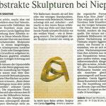 Abstrakte Skulpturen bei Niepel - Rheinische Post - 27.07.2009