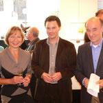 H.Art Gallery - Andverpen - Carola Eggeling (li.) Maurice Cox Jaap Bremer (re.) - 2005