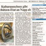 Kulturausschuss gibt Schützen-Etat an App ab - Neuss Grevenbroicher Zeitung - 10.02.2010