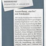"""Ausstellung """"nachts"""" mit Fotokunst - Rheinische Post - 2019"""