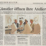 Künstler öffnen ihre Ateliers - Neuss Grevenbroicher Zeitung - 7.5.2010