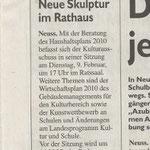 Neue Skulptur im Rathaus - Neusser Stadt-Anzeiger - 3.2.2010