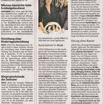 Kunst kommt in Mode - Neuss Grevenbroicher Zeitung - 03.12.2008
