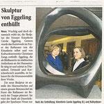 Skulptur von Eggeling enthüllt - Westdeutsche Zeitung - 10.02.2010