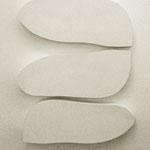Wandobjekt - 2013 - Holz / Gips - 3 teilig - 60 (h) x 45 (b) x 6 (t) cm