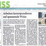 Arbeiten korrespondieren auf spannende Weise - Westdeutsche Zeitung - 03.12.2010