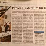 Papier als Medium für Kunst - Neuss Grevenbroicher Zeitung - 14.11.2016