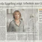 Carola Eggeling zeigt Arbeiten aus Gips - Rheinische Post - 2018