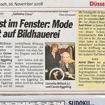 Kunst im Fenster: Mode trifft auf Bildhauerei - Express - 26.11.2008