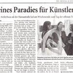 Kleines Paradies für Künstler - Westdeutsche Zeitung - 20.11.2007