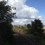 Blick noch der Bahnbrücke Vechelde-Köchingen 24.8.2014