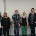 Der Vorstand - Cécile Kaufmann-Grieder, Chrigi Schwander, Thomas Marti, Sabrina Schlumpf, Sinah Lückner